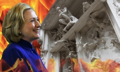 hillary-at-dantes-gates-of-hell