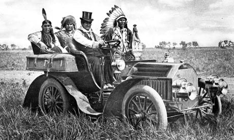 Geronomo in a car in Oklahoma in 1908